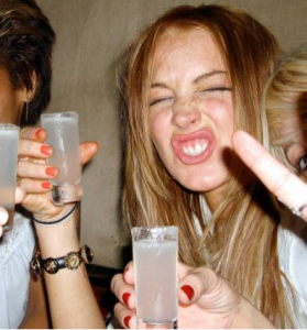 Lindsay Lohan Partying